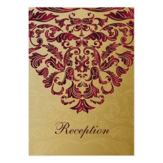 cartes roses de réception de mariage d'or carte de visite grand format