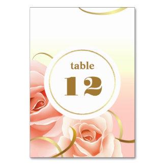 Cartes roses élégantes de nombre de Tableau de