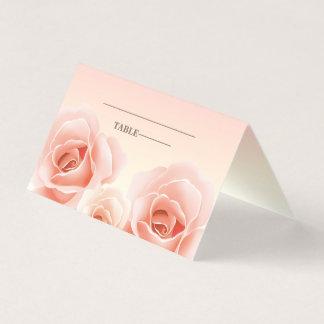 Cartes roses élégantes d'endroit de Tableau de