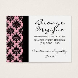 Cartes roses noires de fidélité de client