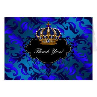 Cartes royales de Merci de prince Crown d'or de