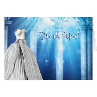 Cartes royales de Merci de robe de bleu marine