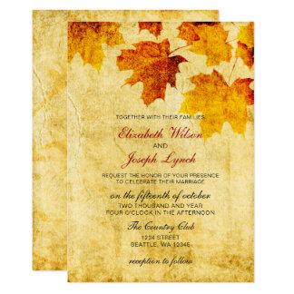 cartes rustiques d'invitation de mariage de carton d'invitation  12,7 cm x 17,78 cm