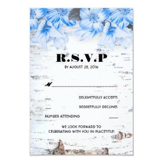Cartes rustiques du mariage campagnard RSVP