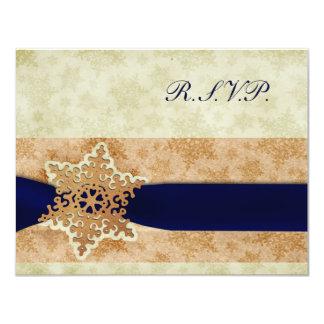 """""""cartes rustiques rustiques de rsvp de mariage carton d'invitation 10,79 cm x 13,97 cm"""