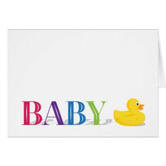 Cartes sophistiquées de Merci de bébé