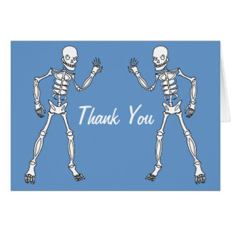 Cartes squelettiques de Merci de baby shower de