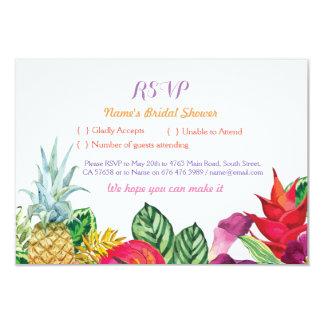 Cartes tropicales nuptiales Luau de douche de RSVP Carton D'invitation 8,89 Cm X 12,70 Cm