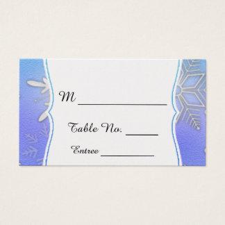 Cartes turquoises d'endroit de mariage d'hiver de