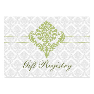 cartes vertes de liste de cadeaux de damassé modèles de cartes de visite