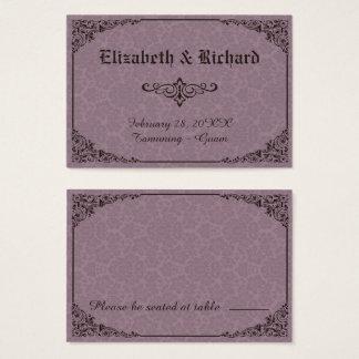 Cartes victoriennes gothiques d'endroit de mariage