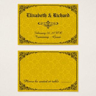 Cartes victoriennes gothiques jaunes d'endroit de