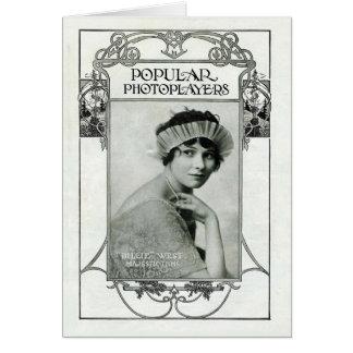 Cartes vintages occidentale de portrait de Billie
