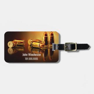 Cartidges d'or personnalisé étiquette à bagage