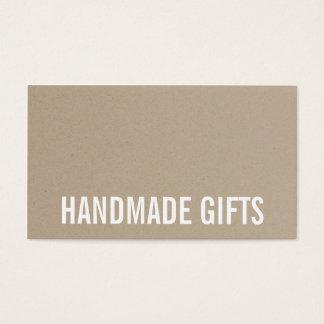 Carton brun rustique moderne de papier d'emballage cartes de visite