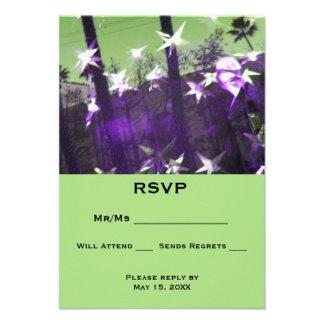 Carton D'invitation 8,89 Cm X 12,70 Cm Abrégé sur arbres et étoiles de RSVP