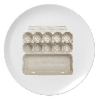 Carton vide d'oeufs assiettes en mélamine
