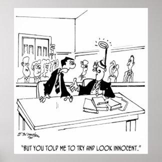 Cartoon 5299 van de advocaat poster