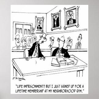 Cartoon 5311 van de oefening poster