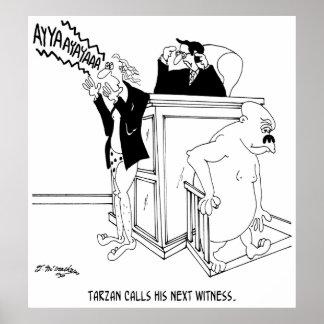 Cartoon 5490 van het Hof Poster
