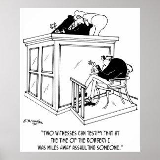 Cartoon 5495 van de misdaad poster