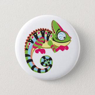 cartoon kameleon ronde button 5,7 cm
