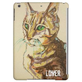 Cas adorable d'air d'IPad d'amoureux de les chats