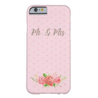 Cas de corail de téléphone de jeune mariée de coque iPhone 6 barely there