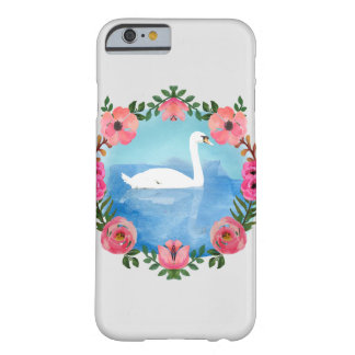 Cas de cygne d'aquarelle coque barely there iPhone 6