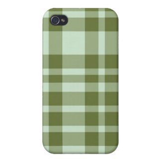 cas de l'iPhone 4 - plaid solide - algue iPhone 4 Case