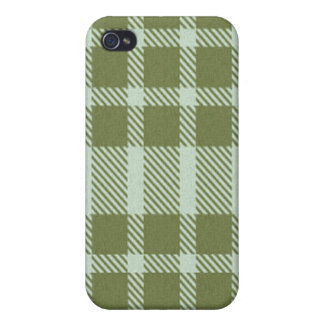 cas de l'iPhone 4 - plaid texturisé - algue iPhone 4/4S Case