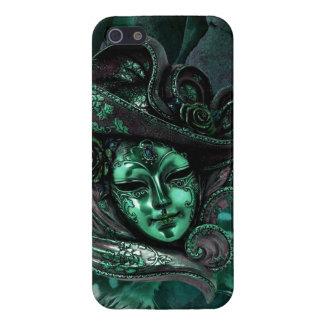 Cas de l'iPhone 5 de damassé de Masque-Jade de car Coque iPhone 5