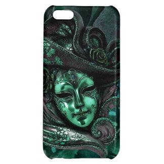 Cas de l'iPhone 5 de damassé de Masque-Jade de car Étui iPhone 5C