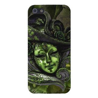 Cas de l'iPhone 5 de damassé de Masque-Peridot de  Étuis iPhone 5