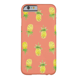 Cas de l'iPhone 6/6s d'ananas d'aquarelle Coque Barely There iPhone 6