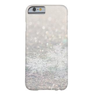 Cas de l'iPhone 6/6s de Bokeh Bling de flocon de Coque iPhone 6 Barely There