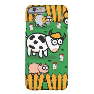 cas de l'iPhone 6 à la ferme d'animaux drôle Coque Barely There iPhone 6