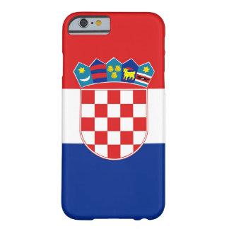 cas de l'iPhone 6 avec le drapeau de la Croatie Coque Barely There iPhone 6