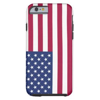 Cas de l'iPhone 6 de drapeau américain