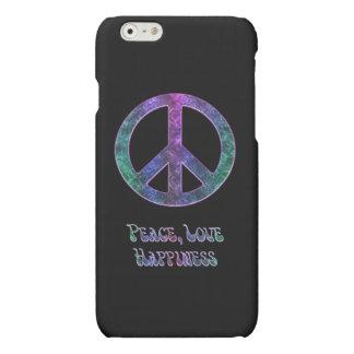 Cas de l'iPhone 6 de signe de paix de bonheur