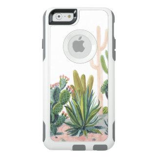 Cas de l'iPhone 6 d'OtterBox d'aquarelle de cactus Coque OtterBox iPhone 6/6s