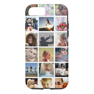 Cas de l'iPhone 7 de collage de photo de client (- Coque iPhone 8/7