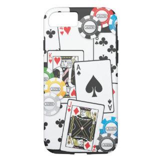 Cas de l'iPhone 7 de main de poker Coque iPhone 8/7