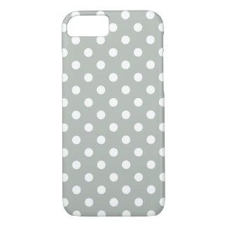 Cas de l'iPhone 7 de point de polka de gris Coque iPhone 7