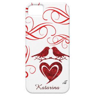 cas de l'iPhone SE/5/5S - coeur avec les roses Coque Case-Mate iPhone 5