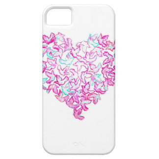 Cas de l'iPhone SE/5/5S de coeur et de colombe Coques iPhone 5 Case-Mate