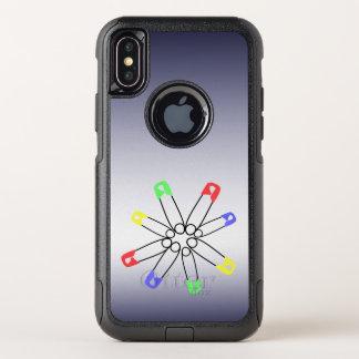 Cas de l'iPhone X de goupille de sécurité