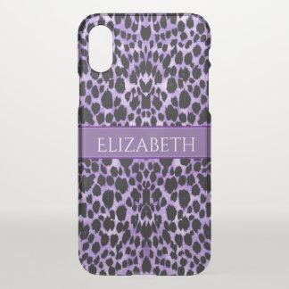 Cas de l'iPhone X de poster de animal de léopard Coque iPhone X