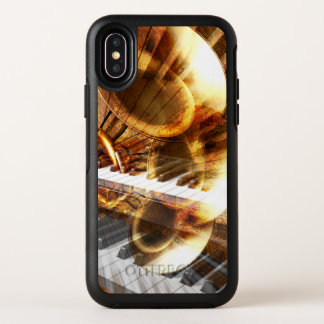 Cas de l'iPhone X d'OtterBox de collage de musique