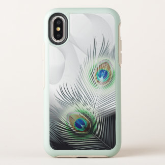 Cas de l'iPhone X d'OtterBox d'imaginaire de plume